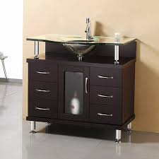 modern single bathroom vanity. Virtu USA Modern Bathroom Vanity Espresso Integral Single Sink With Glass Top (Common