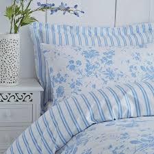 amelie toile duvet cover set blue polycotton 144 thread count