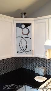 art for glass kitchen cabinet glass circle designs