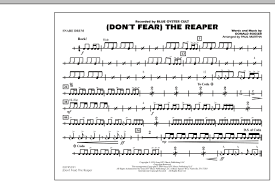 don t fear the reaper sheet music dont fear the reaper snare drum sheet music at stantons sheet