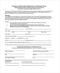 Format Of Employer Certificate Free 10 Employment Certification Form In Sample Example