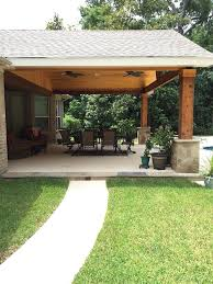 building a covered patio backyard paradise magnolia united states gable roof patio cover attached diy covered