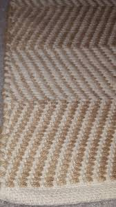 beige cream striped rug almost new condition not used
