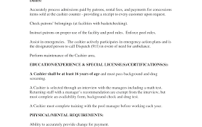 Military Police Job Description Resume Cashier Job Description Resume Duties And Responsibilities Table 99