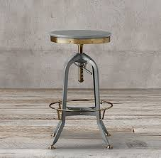 rh s vintage toledo barstool our perfect reion of the classic vintage inspired draftsman chair pairs styling with the warmth of wood