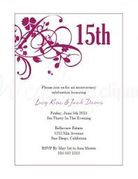 magenta sweet pea wedding anniversary invitations