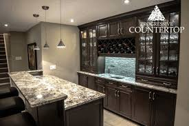 dark wood kitchen cabinets. Light Grey Wall Painting Black And White Granite Countertop Classic Wood Kitchen Cabinet With Silver Handle Bar Stools Dark Cabinets