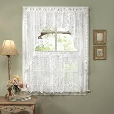 Kitchen Curtains At Walmart Walmart Kitchen Window Curtain Printed Valance And Tier Set