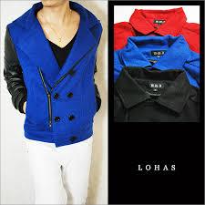 pu leather wool award jacket pu leather award jacket change men