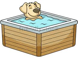 dog character in hot tub png jpg and vector eps infinitely scalable