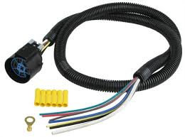 installing a 7 blade rv connector on a ford expedition blue oval of the end of the factory blue trailer brake wire the factory harness is then spliced in to the new pollak harness and sealed electrical tape
