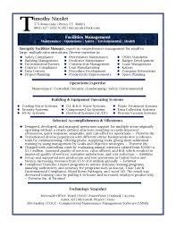Facility Engineer Sample Resume Haadyaooverbayresort Com