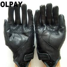 retro pursuit leather gloves full finger motorcycle gloves leather waterproof uni men black motorbike glove for gant moto malaysia