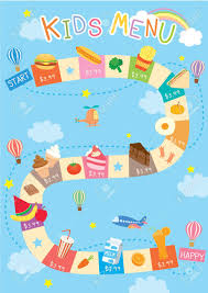 Illustration Vector Of Kids Menu Design With Cute Game Concept