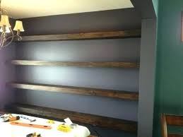 how to install wall shelves hanging floating shelves how to hang floating shelves on concrete walls how to install