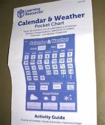 Calendar And Weather Pocket Chart Details About Learning Resources Durable Nylon Calendar Weather Pocket Chart Ler2418 Complete