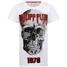 Designer Rock T Shirts Philipp Plein Boys White Rock Pp Skull Top Boys Designer
