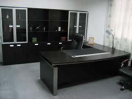 black office table. Black Modern Table Office