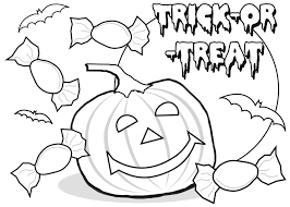 Small Picture Trick or Treat Poster Halloween Coloring Pages Free Printable