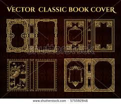 vector set of book covers decorative vine frame or border to be printed on the