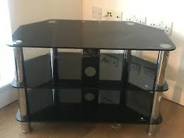 3 tier corner unit black tempered glass tv stand used but good condition