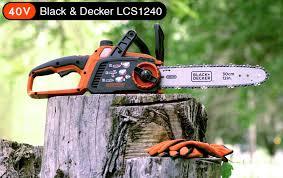 smallest chainsaw. black-\u0026-decker-lcs1240-best-small-battery-chainsaw- smallest chainsaw