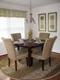 rug under round kitchen table