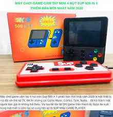 Máy chơi game cầm tay mini 4 nút Sup 500 in 1 phiên bản mới nhất