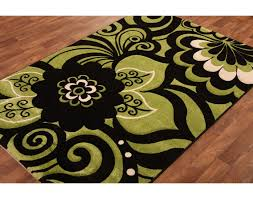 interesting green kitchen rugs lime green kitchen rugs hand carved lime green black modern rug