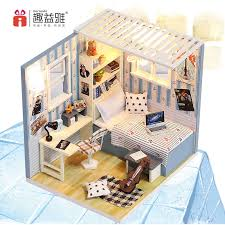 china new item miniature house kit assembling diy educational toy wooden educational china wooden toy doll house