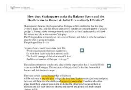 how does shakespeare make the balcony scene and the death scene in  document image preview