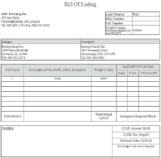 bill of lading trucking simple bill of lading template free word documents freight form
