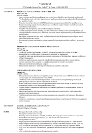 Utilization Review Nurse Resume Utilization Review Nurse Resume Samples Velvet Jobs