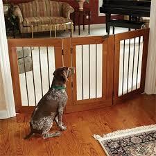 three panel wood metal gate with door