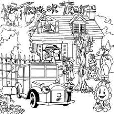 Small Picture Haunted House PDF Zentangle Coloring Page Haunted houses