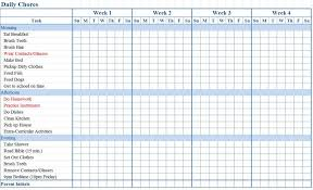 Accurate Job Responsibility Chart Template Monthly Chore