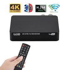 4K Ultra HD 1080P Digital DVB T2 TV Box Mini Multifunctional TV Receiver Set  Top Box Media Player For PVR TIMESHIFT|Satellite TV Receiver