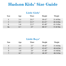Little Girls Size Chart Hudson Kids Christa Super Stretch In Vintage Blue Wash Big