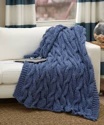 Free Afghan Knitting Patterns Circular Needles Impressive Casual Cables Throw Red Heart