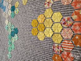 it's a hexi world – a rainbow hexagon world map quilt | Map quilt ... & Gorgeous hexi map quilt. . . I'd like to try this for a Adamdwight.com