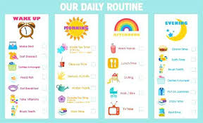 Daily Routine Printable Kids Schedule Template Daily Chart For Definition Free