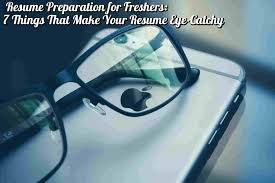 Resume Preparation For Freshers 7 Things That Make Your Resume
