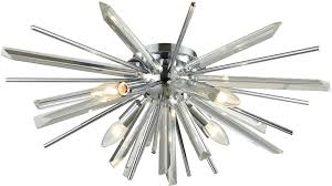 avenue lighting hf8205 ch palisades ave chrome with clear glass ceiling lighting fixture loading zoom