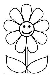 Disegno Di Fiore Con Sorriso Da Colorare Per Bambini