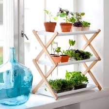 Shelf:Nice Window Plant Stands With Mini Plant And Folding Rack At White  Window Unusual