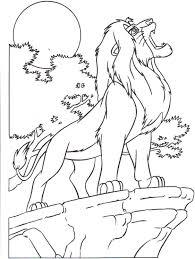 Coloriage Lion Dans La Savane L