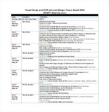 Excel Itinerary Template Travel Word Competent 6 Templates Creative ...