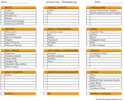 shopping list by department thanksgiving thanksgiving menu planner and shopping list dinner