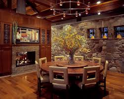 rustic round dining table. 8 Person Round Dining Table Room Rustic With Built In Storage Cabin. Image By: Tidewater Lumber And Moulding Inc