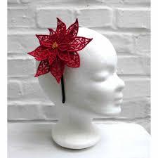 Weihnachtsstern Gestickt Haarreif Weinachten
